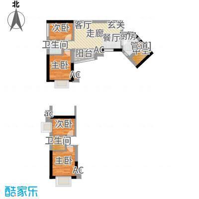 金碧新城62.60㎡恒大云湖47-49号面积6260m户型
