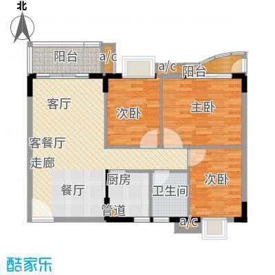 金碧雅苑10-11层D单元户型