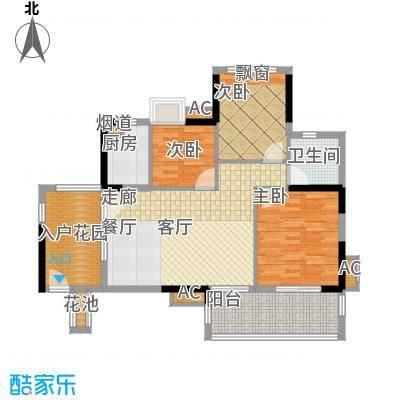 万科云山95.00㎡C4栋平面图面积9500m户型