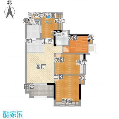万科云山95.00㎡C1栋01单元3室面积9500m户型
