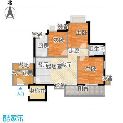 万科云山93.00㎡B1栋04单元3室面积9300m户型