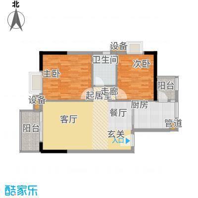 江南新苑88.00㎡三期单位户面积8800m户型