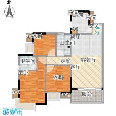 金碧雅苑96.84㎡19楼2-18层B面积9684m户型
