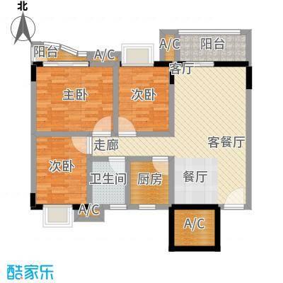金碧雅苑10-11层C单元户型