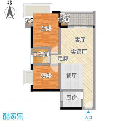 金碧雅苑70.74㎡19楼2-18层D面积7074m户型