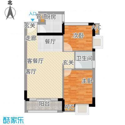 金碧雅苑10-11层A单元2户型