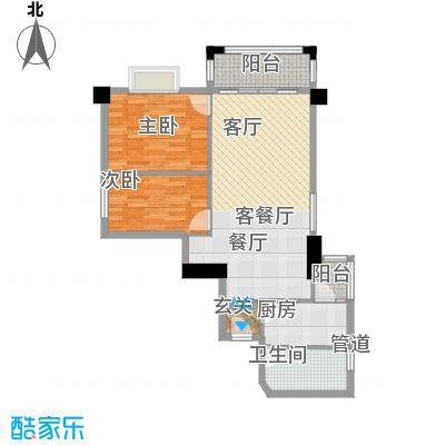 橡树园81.10㎡D1栋03单元2室面积8110m户型