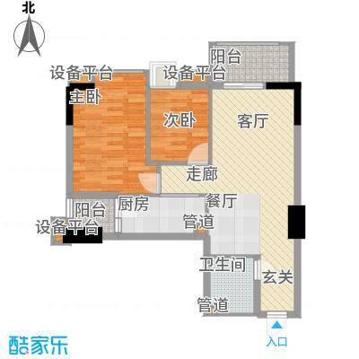 雅居乐君域公馆79.00㎡K面积7900m户型