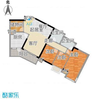 瀚林水岸106.72㎡B栋04单元4室2面积10672m户型