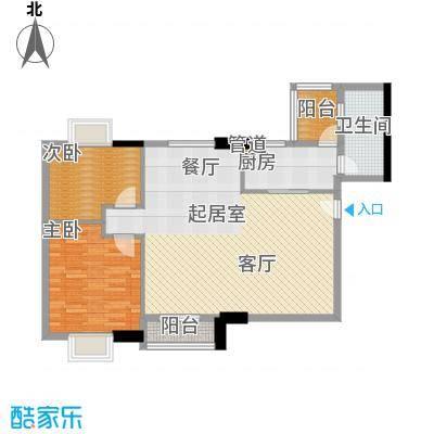 橡树园90.60㎡D2栋09单元2室面积9060m户型