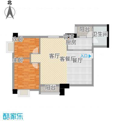 橡树园89.68㎡D1栋09单元2室面积8968m户型