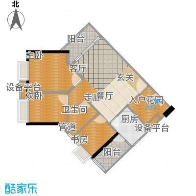 时代玫瑰园90.26㎡A区2栋01面积9026m户型