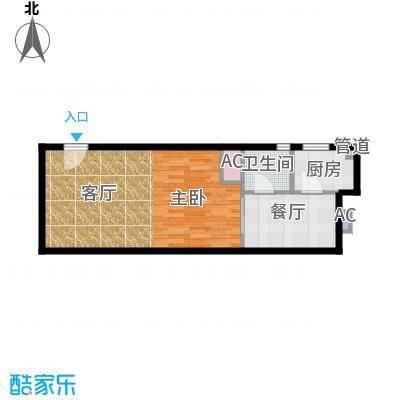 锦源国际公寓55.10㎡F1面积5510m户型