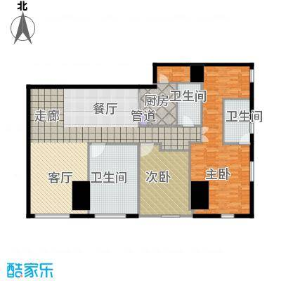 锦源国际公寓204.07㎡A2面积20407m户型