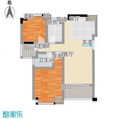 盛世名门78.00㎡世泽轩-2D1面积7800m户型