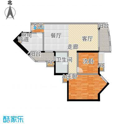 恒荔湾畔89.91㎡A1-08面积8991m户型