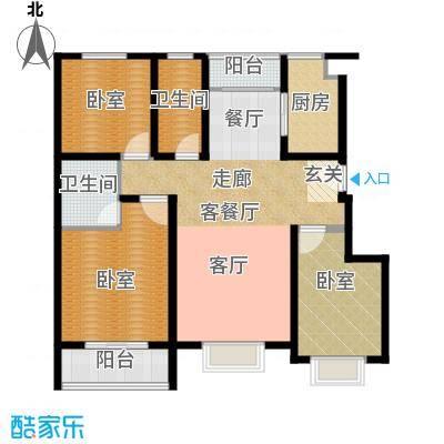 建大花园120.00㎡3居室2面积12000m户型