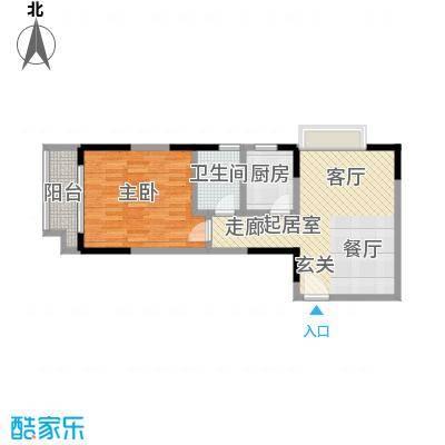 鑫苑碧水尚景56.43㎡面积5643m户型