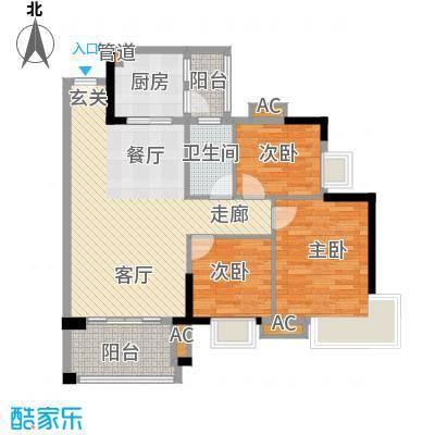 广州富力城89.94㎡C3栋5-14层03面积8994m户型