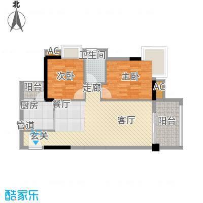 广州富力城90.00㎡F6-02单位二面积9000m户型