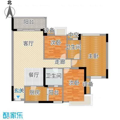 中海康城109.58㎡丁香街1号01面积10958m户型