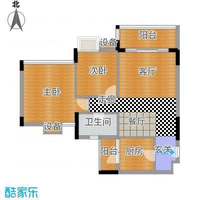 中海康城77.41㎡丁香街7号04面积7741m户型