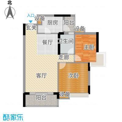 中海康城80.08㎡丁香街1号04面积8008m户型