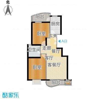 芳草轩95.00㎡B1单元2室面积9500m户型