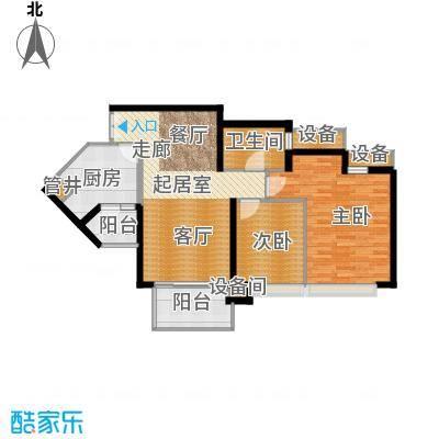 东方新世界92.69㎡第1座6、7层4面积9269m户型