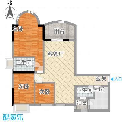 骏景花园114.22㎡国际公寓A面积11422m户型