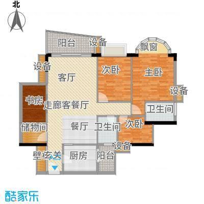 骏景花园131.00㎡A栋A单元5室面积13100m户型