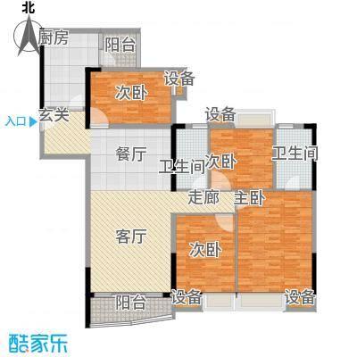 华景新城陶然庭苑136.79㎡陶然庭面积13679m户型
