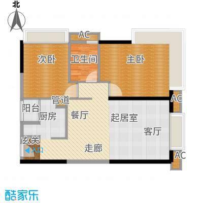 珠江新岸公寓88.17㎡19面积8817m户型