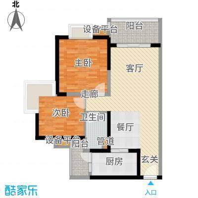 中海金沙湾85.63㎡B5栋5-27层04面积8563m户型