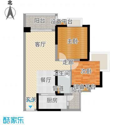 中海金沙湾85.31㎡B6栋5-27层04面积8531m户型