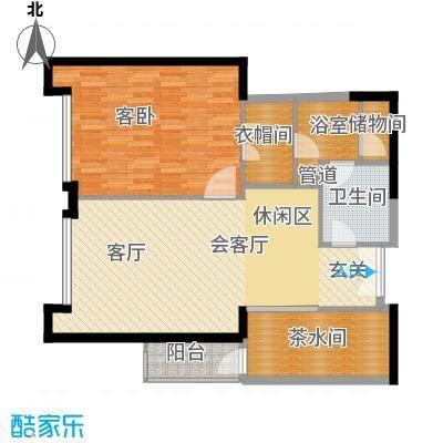 富力爱丁堡国际公寓89.46㎡1面积8946m户型