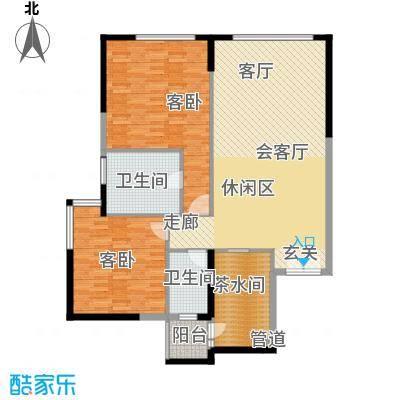 富力爱丁堡国际公寓125.84㎡面积12584m户型
