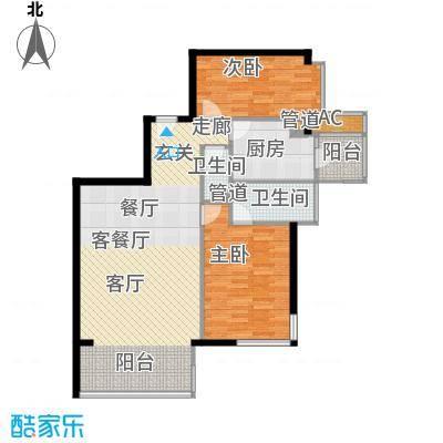 富力爱丁堡国际公寓113.68㎡面积11368m户型