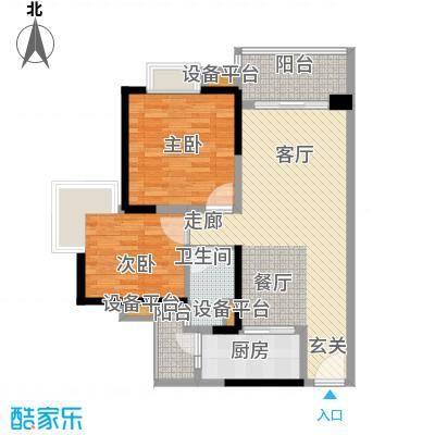 中海金沙湾85.34㎡B6栋5-27层03面积8534m户型