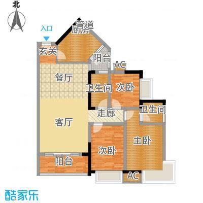金碧世纪花园106.99㎡20、21号楼面积10699m户型