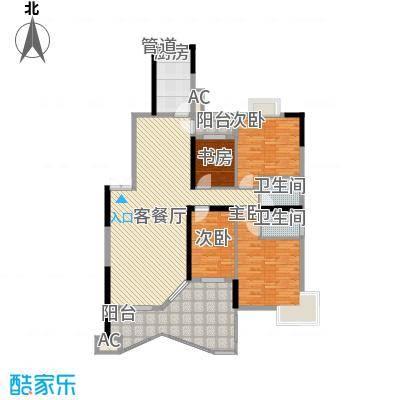 丽江花园172.17㎡2座02单元4室2面积17217m户型