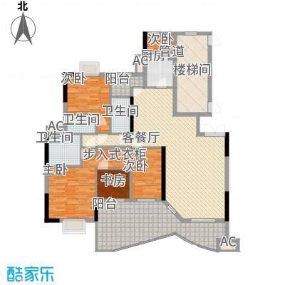 丽江花园205.85㎡2座01单元5室2面积20585m户型