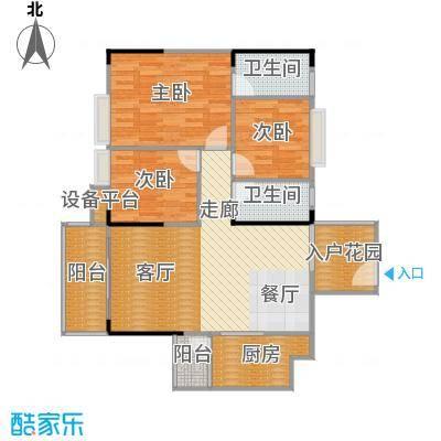 汉中紫薇苑101.00㎡汉中・紫薇苑银薇阁A户型
