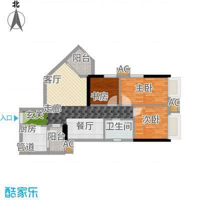 西门口广场75.00㎡八座五至二十面积7500m户型