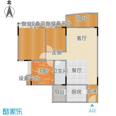 汉中紫薇苑107.00㎡汉中・紫薇苑翠薇阁B户型