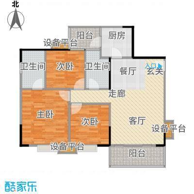 汉中紫薇苑99.00㎡汉中・紫薇苑银薇阁D户型