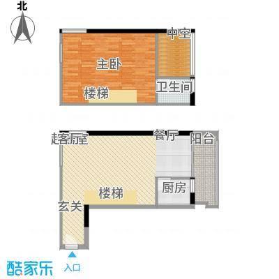 理想青年荟67.16㎡A012面积6716m户型