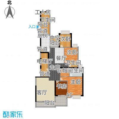 中海观园国际243.03㎡面积24303m户型