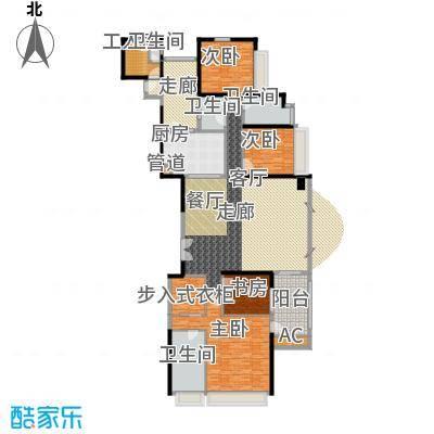 中海观园国际276.55㎡E栋11-37层面积27655m户型