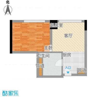 达镖国际商务公寓42.92㎡一期1号楼6层A户型